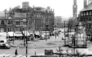 Bradford, Towards Town Hall Square c.1955