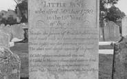 Brading, Churchyard, Little Jane's Grave 1935