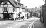 Brading, High Street and the Kyng's Towne Museum c1969