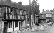 Brading, Old Cottages c.1955