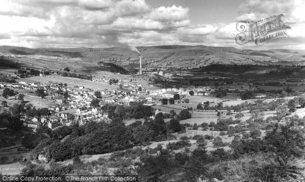 Bradwell, From Bradwell Edge c.1955