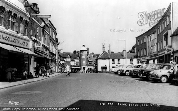 Braintree, Bank Street c.1955