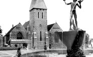 Braintree, The Fountain And St Michael's Church c.1955