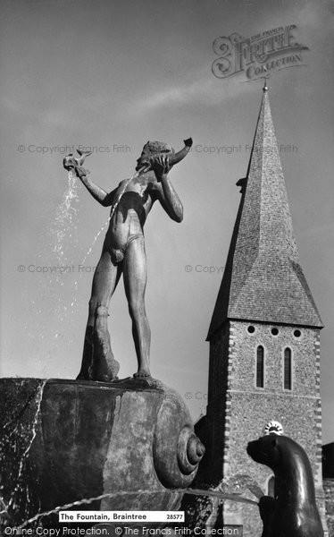 Braintree, The Fountain c.1960