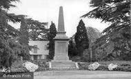 Braintree, The War Memorial, Public Gardens c.1955