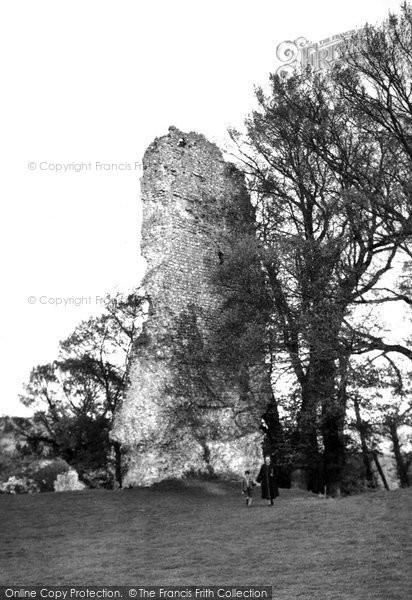 Bramber, Castle Ruins c.1950