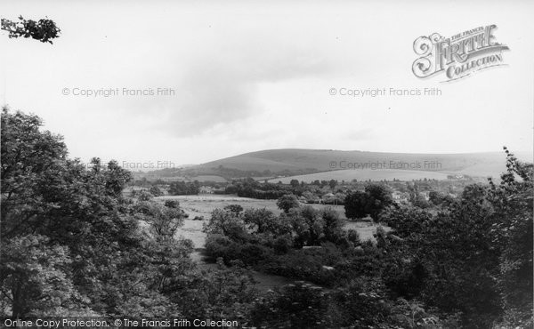 Bramber, The Downs From The Castle c.1965