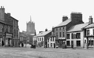 Brampton, Market Place And St Martin's Church c.1955