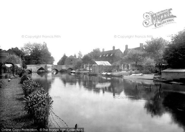 Brandon, River Ouse And Bridge 1925
