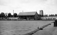 Brandon, The Bowling Green And Church c.1950