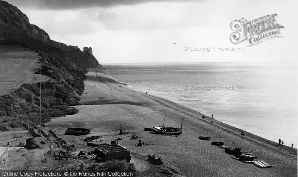 Branscombe, The Cliffs And Beach c.1950