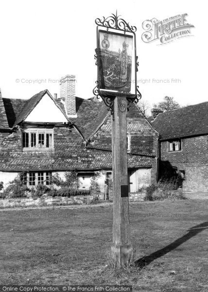 Brasted, The Village Sign c.1955