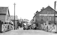 Braunton, The Level Crossing And Caen Street c.1950
