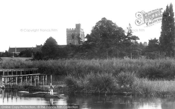 Bray, Church From River 1890