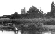 Bray, St Michael's Church From River Thames 1890