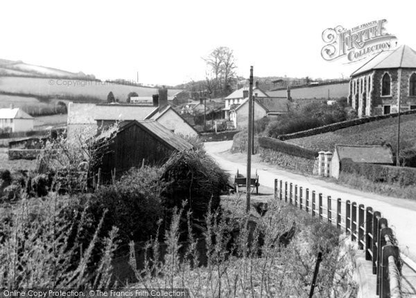 Brayford, Village From Bridge c.1955