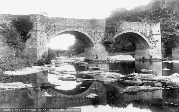 Brecon, Bridges On The Usk 1899