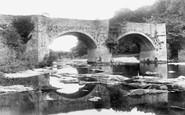 Brecon, Bridges On The Usk 1899
