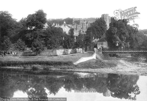Brecon, Castle And River Usk 1899