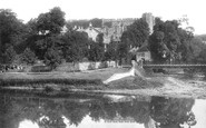 Brecon, Castle And River Usk 1899