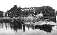 Brecon, Castle Hotel And River Promenade c.1940