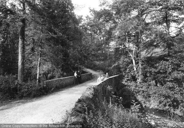Brecon, Ffrwdgrech Waterfalls Bridge 1910