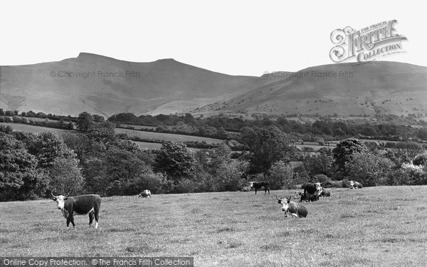 Brecon, Grazing Under The Beacons c.1955
