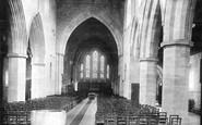 Brecon, The Priory Church Interior 1899