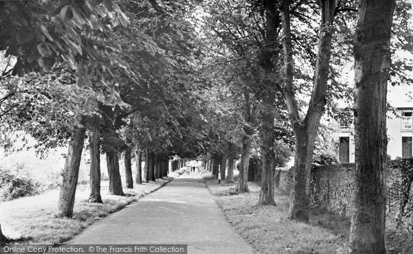 Brecon, The River Promenade c.1955