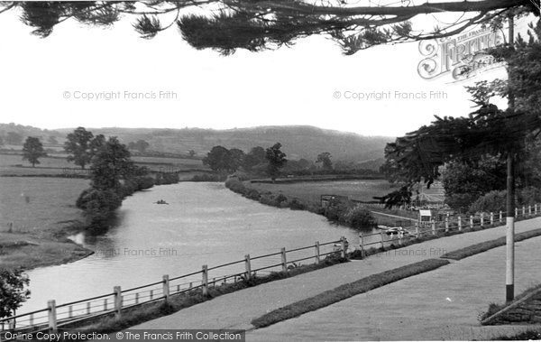 Brecon, The River Usk From The Promenade c.1955
