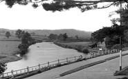 Brecon, The River Usk From The Promenade c.1955
