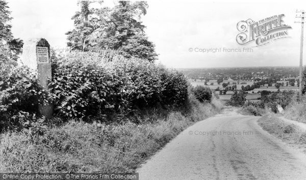 Bremhill, Inscription Stone, Wick Hill c.1960
