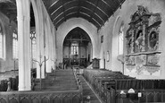 Brent Knoll, St Michael's Church Interior 1918
