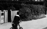 Brentwood, A Boy And A Bicycle, Ongar Road 1907