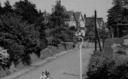 Brentwood, Cyclists In Weald Road c.1955