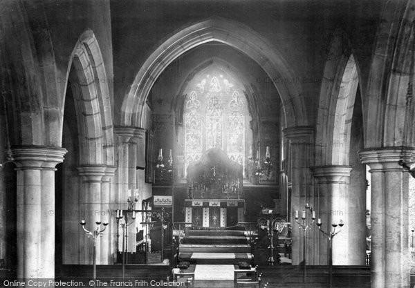 Brentwood, Hutton Church Interior 1906