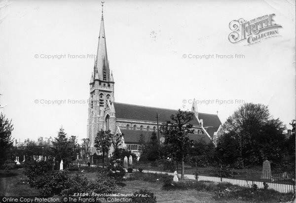 Brentwood, St Thomas' Church 1905