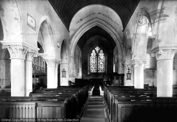 Bridge, St Peter's Church Interior 1903