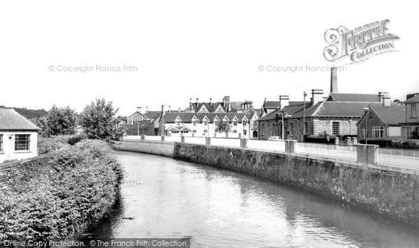 Bridgend, Hospital And River c.1960