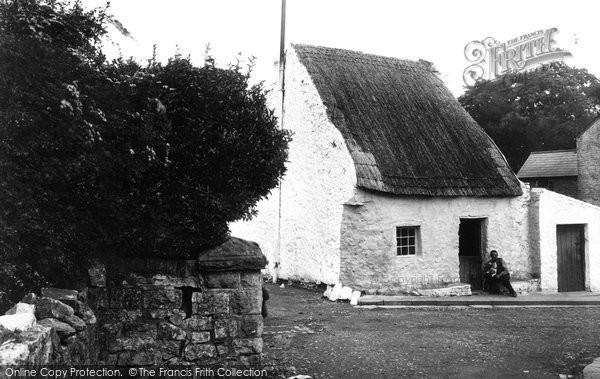 Bridgend, Old Cottage 1910