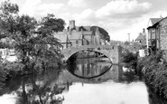 Bridgend, Old Stone Bridge And River Ogmore c.1955