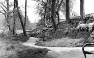 Bridgend, The Park, Rock Gardens c.1955