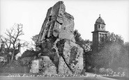 Bridgnorth, Castle Ruins And St Mary's Church c.1955