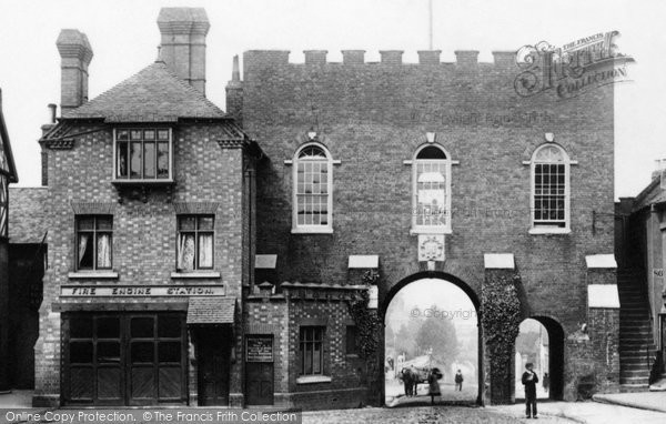Photo of Bridgnorth, North Gate and Fire Station 1896