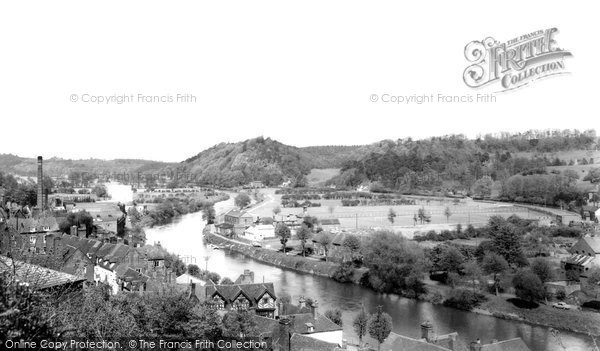 Bridgnorth, River Severn From Castle Walk c.1965