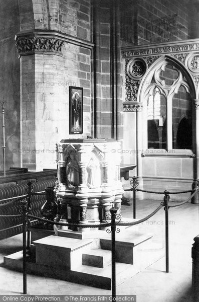 Bridgnorth, St Leonard's Church Font 1896