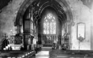 Bridgnorth, St Leonard's Church Interior 1896