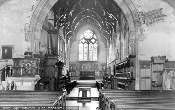 Bridgnorth, St Leonard's Church Interior c.1960