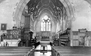 Bridgnorth, St Leonard's Church interior c1960