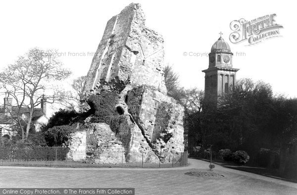 Bridgnorth, The Castle Ruins And St Mary's Church c.1950